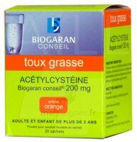 Acetylcysteine Biogaran Conseil 200 Mg Pdr Sol Buv En Sachet B/20 à Orléans