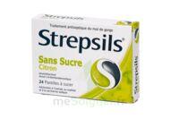 Strepsils Citron Sans Sucre, Pastille édulcorée à L'isomalt, Au Maltitol Et à La Saccharine Sodique à Orléans