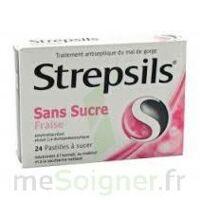 Strepsils Fraise Sans Sucre, Pastille édulcorée à L'isomalt, Au Maltitol Et à La Saccharine Sodique à Orléans