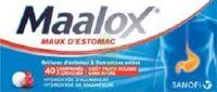 Maalox Maux D'estomac Hydroxyde D'aluminium/hydroxyde De Magnesium 400 Mg/400 Mg Sans Sucre Fruits Rouges, Comprimé à Croquer édulcoré à La Saccharine Sodique, Au Sorbitol Et Au Maltitol à Orléans