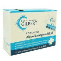 Alcool A Usage Medical Gilbert 2,5 Ml Compr Imprégnée 12sach à Orléans
