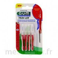 Gum Trav - Ler, 0,8 Mm, Manche Rouge , Blister 4 à Orléans