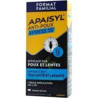Apaisyl Anti-poux Xpress 15' Lotion Antipoux Et Lente 200ml+peigne à Orléans